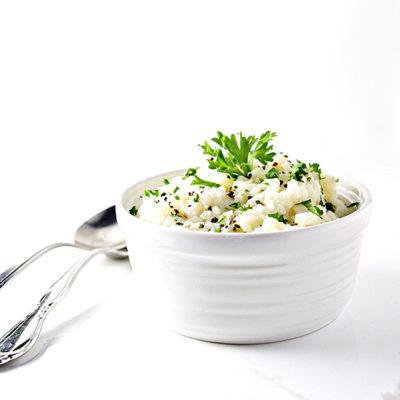 Garlic Mashed Cauliflower Potatoes