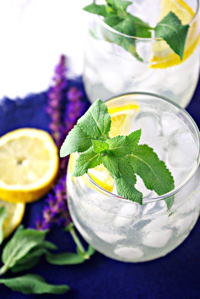 Agave-Infused Homemade Lemonade is refined sugar-free! | spiritedandthensome.com