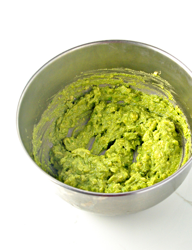 Avocados are the creamy base in this crunch paleo veggie guacamole!   spiritedandthensome.com