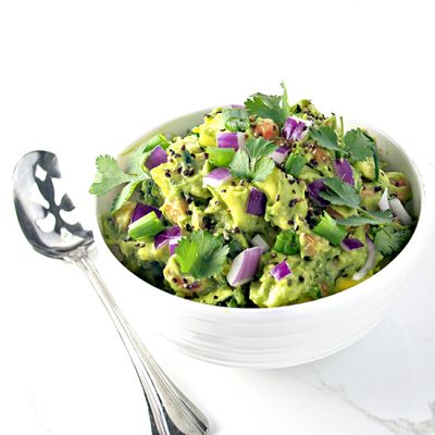 Veggie Guacamole with Fresh Garlic is full of paleo crunch! | spiritedandthensome.com