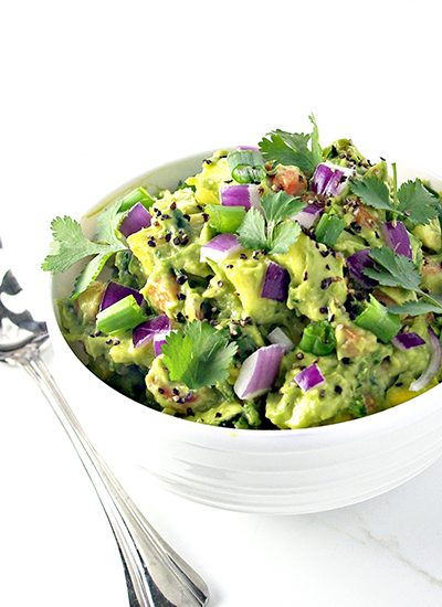Veggie Guacamole with Fresh Garlic and a Pinch of Lime