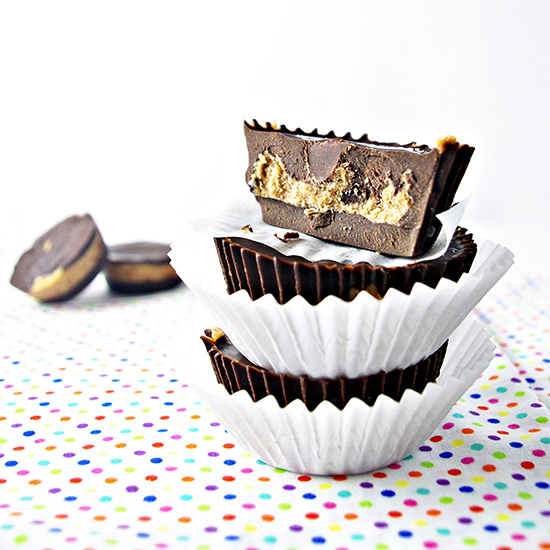 Chocolate Almond Butter Cups are a delicious treat with vegan and paleo variations! | spiritedandthensome.com