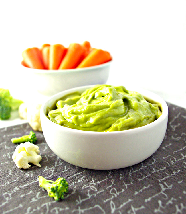Lemon Avocado Dip is deliciously vegan and paleo and still super creamy and healthy! Gluten-free, dairy-free, soy-free, and grain-free, too! | spiritedandthensome.com