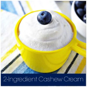 2-Ingredient Cashew Cream with Blueberries