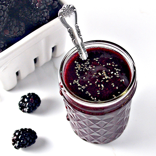 5-Minute Blackberry Sauce is delectably gluten-free! | spiritedandthensome.com