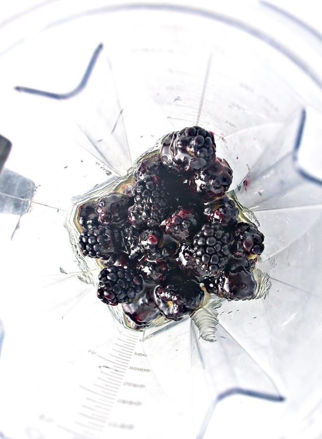Blend blackberries with sweetener and lemon juice and go!   spiritedandthensome.com