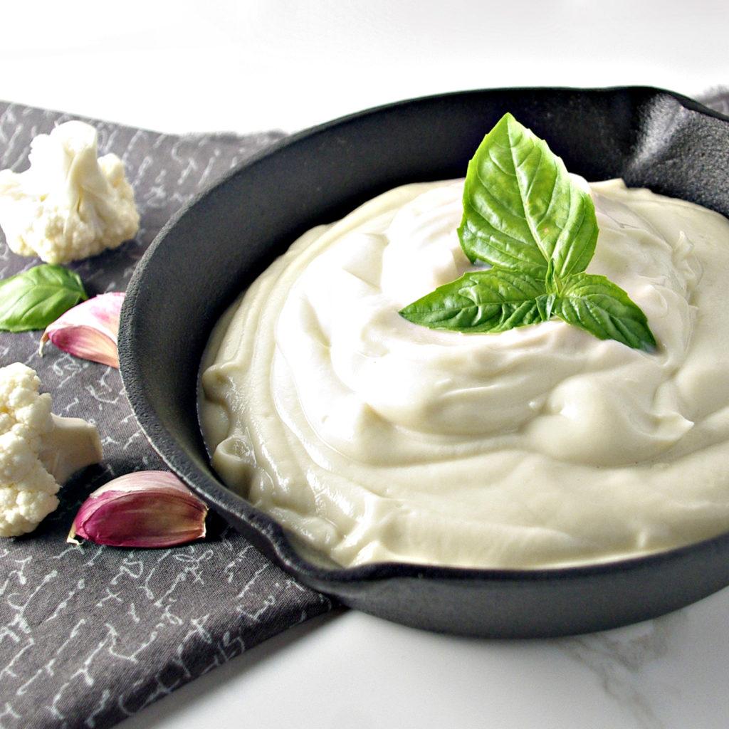 Dairy-Free, Grain-Free Cauliflower Alfredo Sauce | via spiritedandthensome.com | #glutenfree #grainfree #soyfree #dairyfree #paleo #vegan #healthy #recipe