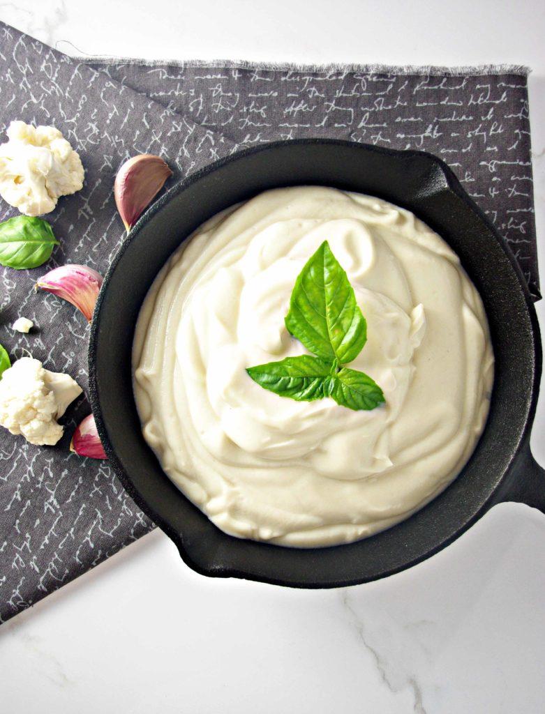 Dairy-Free Cauliflower Alfredo Sauce | via spiritedandthensome.com | #glutenfree #grainfree #soyfree #dairyfree #cleaneating #vegan #paleo