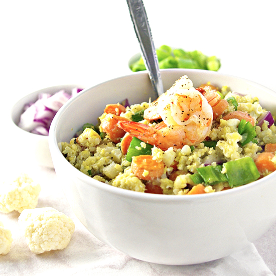 Grain-Free Cauliflower Stir Fry recipe | via spiritedandthensome.com