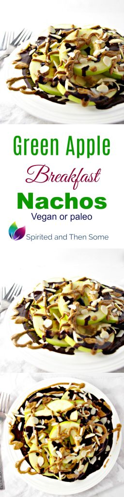 Green Apple Breakfast Nachos are deliciously vegan or paleo! | spiritedandthensome.com