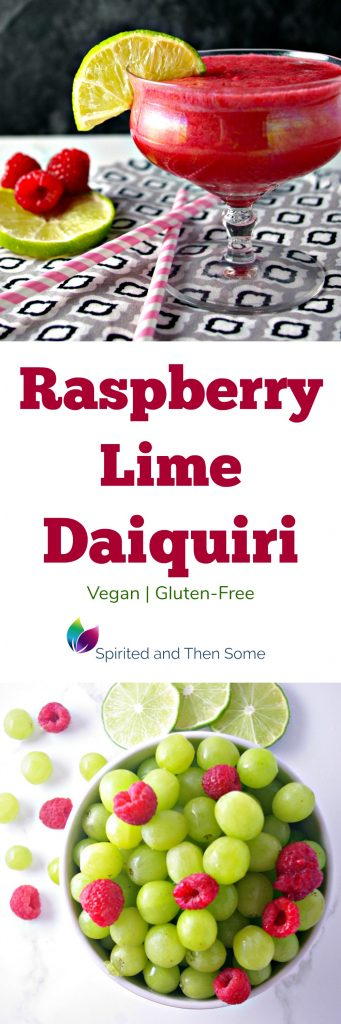 This Raspberry Lime Daiquiri is vegan and gluten-free and refreshingly delicious! | spiritedandthensome.com