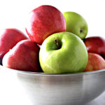Gala and Granny Smith Apples in Stainless Steel Bowl | via spiritedandthensome.com