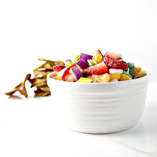 Fruit Salsa {Paleo} | via spiritedandthensome.com | #paleo #fruit #appetizer #glutenfree #grainfree #sweet #strawberry #recipe #easy #quick