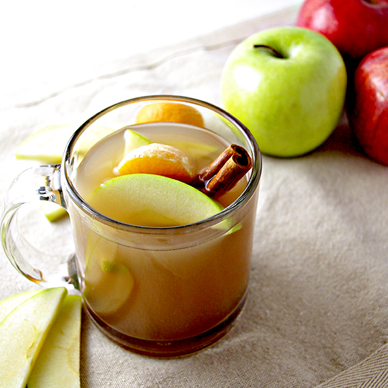 Homemade Apple Cider with Oranges and Cinnamon Sticks | spiritedandthensome.com