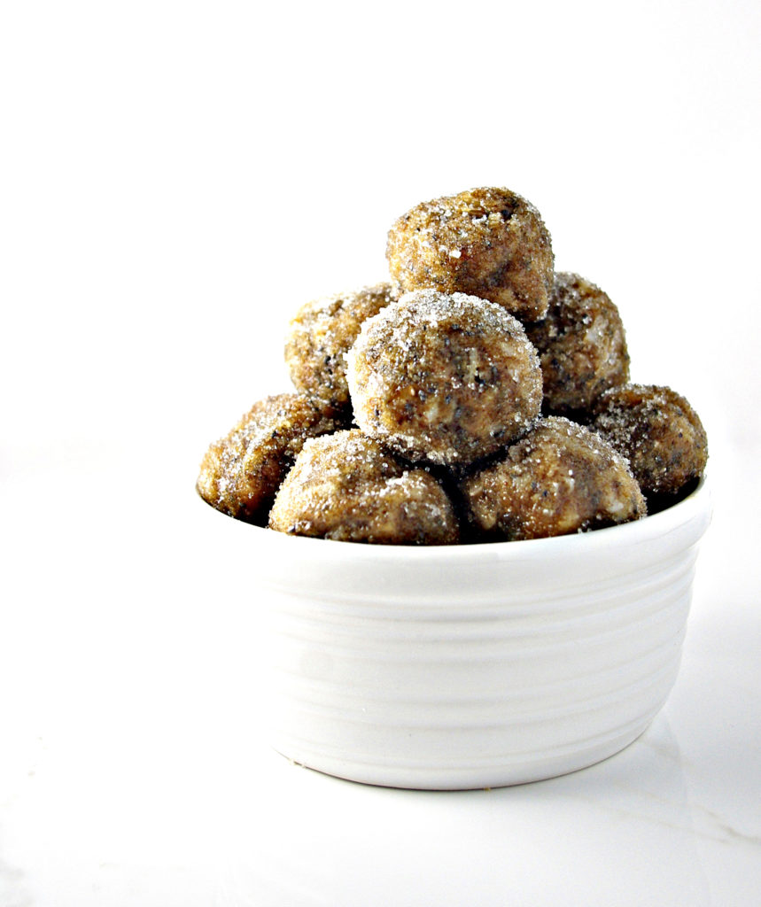 No-Bake Almond Butter Bites are grain-free, gluten-free, soy-free, and dairy-free! | spiritedandthensome.com