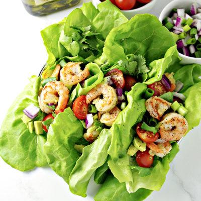 Loaded Shrimp Tacos {Grain-free!}