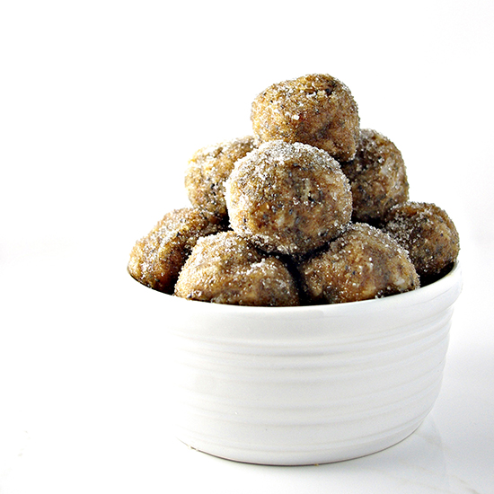 No-Bake Almond Butter Bites are the perfect gluten-free, grain-free treat for fall! | spiritedandthensome.com
