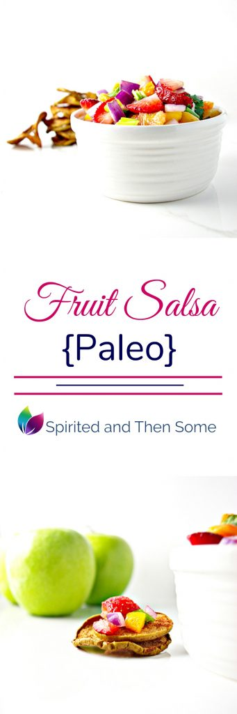 Paleo Fruit Salsa is the perfect party appetizer and full of sweet and savory flavors1 | spiritedandthensome.com