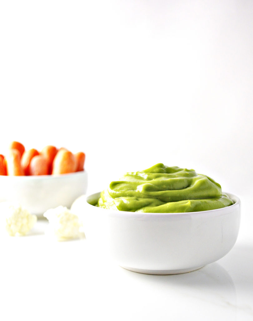 Paleo Avocado Mayo also tastes delicious with vegetables! | spiritedandthensome.com