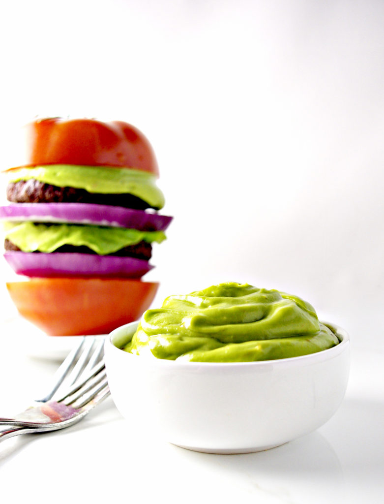 Top burgers, chicken, and so much more with paleo Avocado Mayo! | spiritedandthensome.com