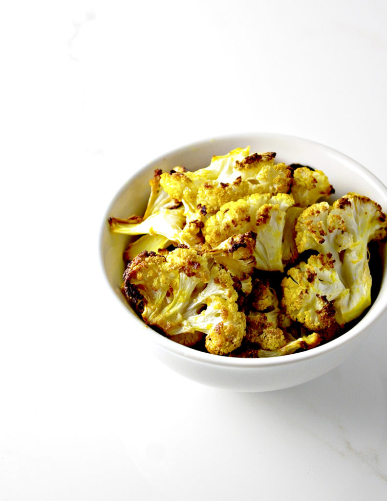 Crispy-Baked Cauliflower Bites are a healthy alternative to chips! | via spiritedandthensome.com