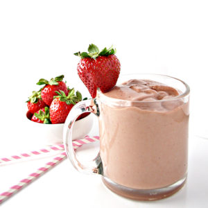 Strawberry Smoothie with both fresh and frozen strawberries | via spiritedandthensome.com