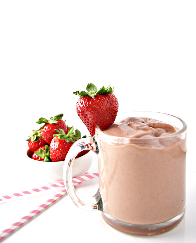 Avocados are the secret to creating this creamy On-the-Go Strawberry Breakfast Smoothie! | spiritedandthensome.com