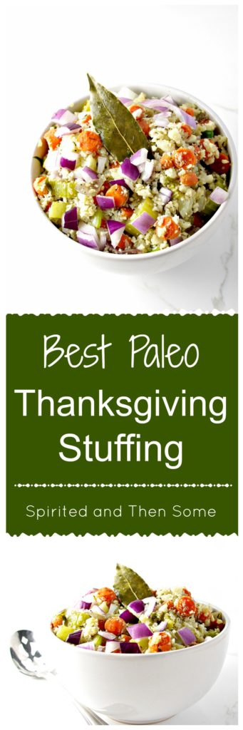 The Best Paleo Thanksgiving Stuffing is a family favorite in our house! A crowd-pleaser, if you! | spiritedandthensome.com