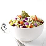 Bowl of paleo stuffing for Thanksgiving | via spiritedandthensome.com
