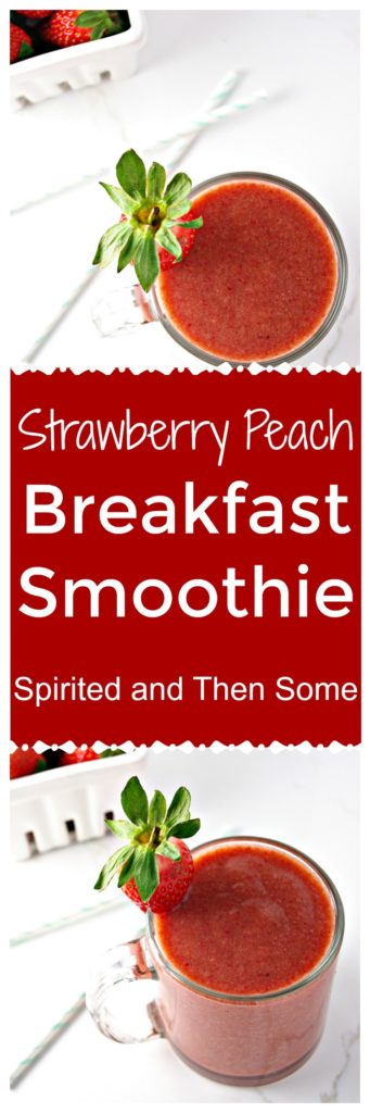 Paleo Strawberry Peach Breakfast Smoothie is perfect for on-the-go! | spiritedandthensome.com