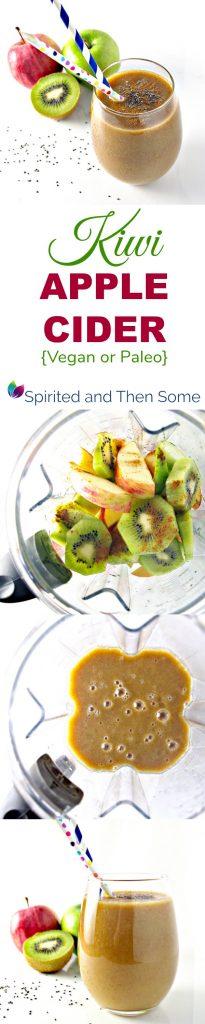 Gluten-Free Kiwi Apple Cider recipe with vegan and paleo variations! Ready in MINUTES!!   spiritedandthensome.com
