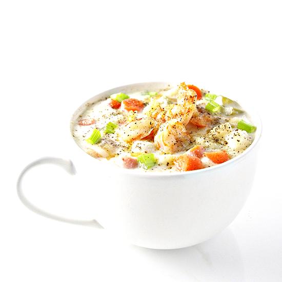 Dairy-Free Shrimp Chowder is soul-warming, PALEO soup!   spiritedandthensome.com