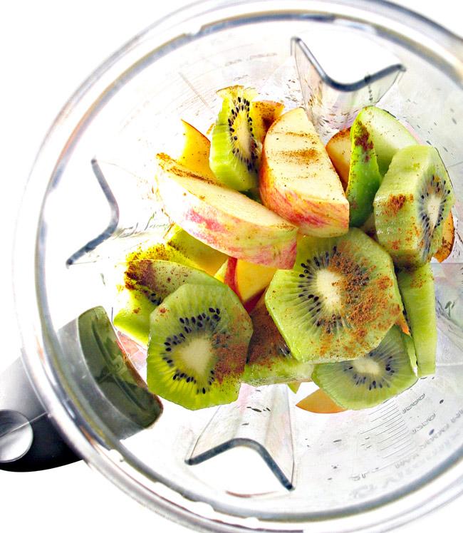 Succulent ingredients for gluten-free Kiwi Apple Cider! Vegan and paleo variations included! | spiritedandthensome.com