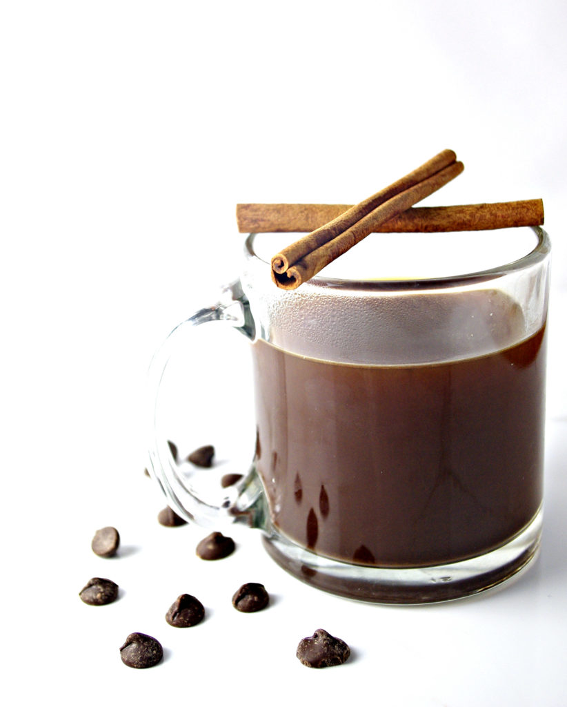 Decadent World's Best Chocolate Coffee with just two base ingredients! | spiritedandthensome.com