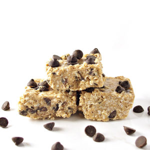 No-Bake Paleo Chocolate Chip Coconut Bars are the new obsession in our family! Vegan variation included! | spiritedandthensome.com