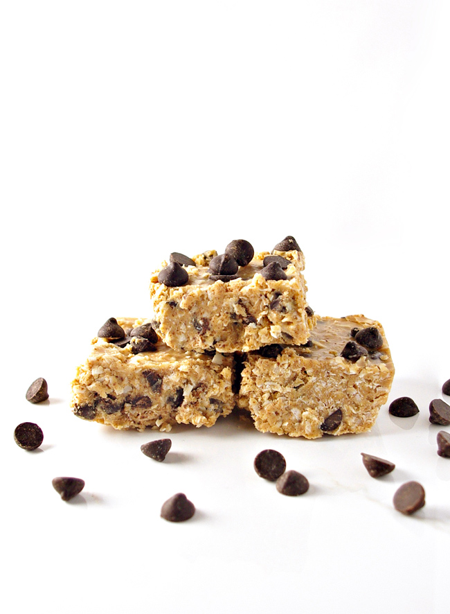 Chocolate Chip Coconut Bars are totally paleo and totally delicious! | spiritedandthensome.com