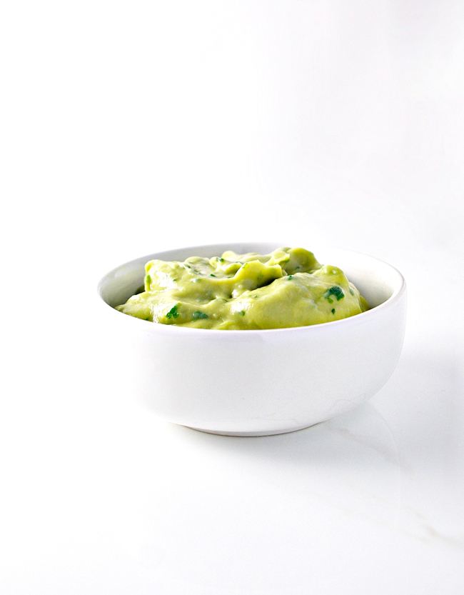 Dairy-Free Avocado Cream goes well with cauliflower rice but tastes divine on its own! | spiritedandthensome.com