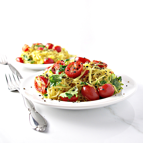 Paleo Spaghetti Squash Noodles are so easy to make and so YUM to taste! | spiritedandthensome.com