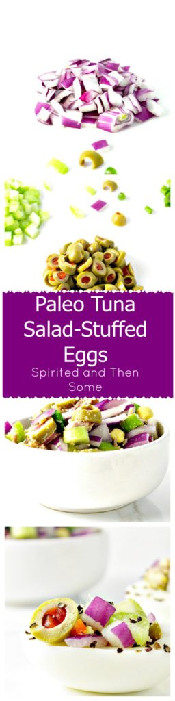 Paleo Tuna Salad-Stuffed Eggs are a SUPER YUM recipe! | spiritedandthensome.com