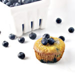 Paleo Blueberry Muffins are easy to make and are super fluffy and fruity! We have been eating these like it's our job! | spiritedandthensome.com