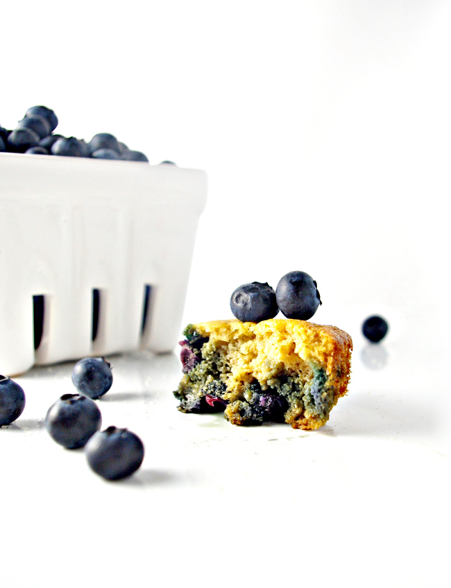 Sweet bites of Paleo Blueberry Muffins are perfect for school lunches, breakfast, and snack time! | spiritedandthensome.com