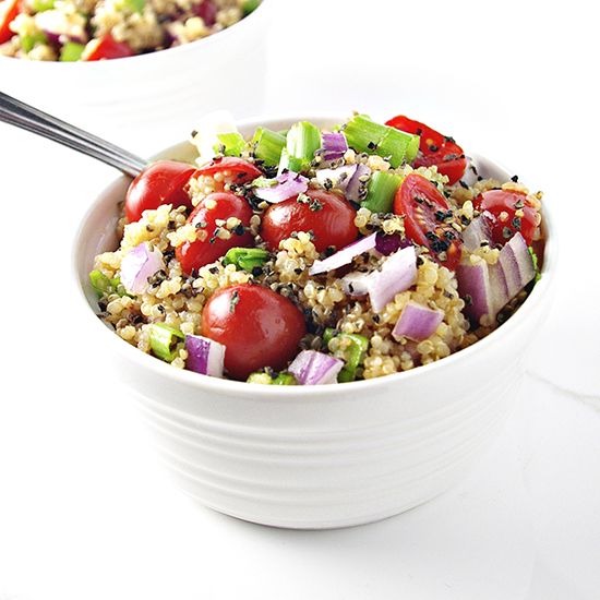 Herbed Veggie Quinoa Bowl is so delicious AND healthy! | spiritedandthensome.com