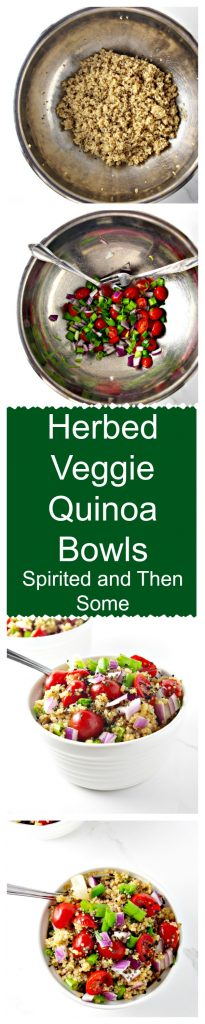 Herbed Veggie Quinoa Bowls are ready in 30 minutes! | spiritedandthensome.com