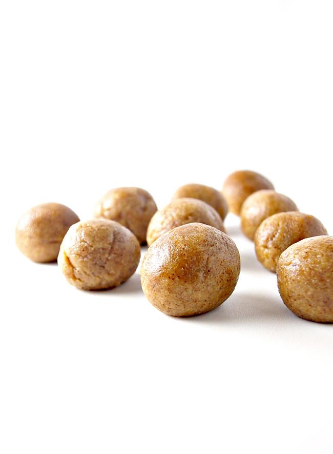 Roll the No-Bake Chocolate Almond Butter Truffles into 1-inch balls   spiritedandthensome.com