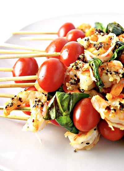 Sautéed Shrimp Appetizer Skewers