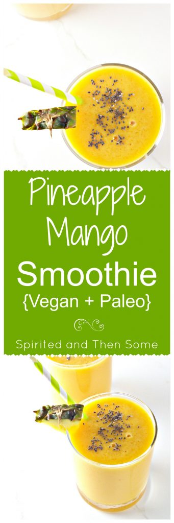 Pineapple Mango Smoothie is vegan and gluten-free! | spiritedandthensome.com