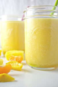 An earlier image of Pineapple Mango Smoothie! Gluten-free and dairy-free! | spiritedandthensome.com