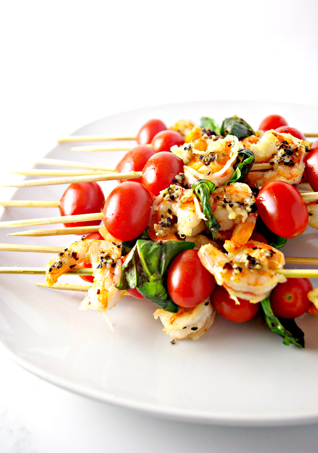 Sautéed Shrimp Appetizer Skewers are a mouthwatering paleo appetizer recipe just waiting to be tried! | spiritedandthensome.com