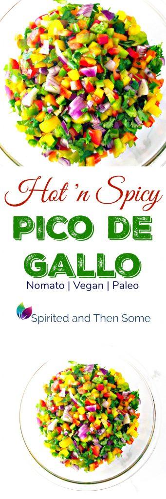 Hot 'n Spicy Pico de Gallo is vegan, paleo, and NOMATO! | spiritedandthensome.com