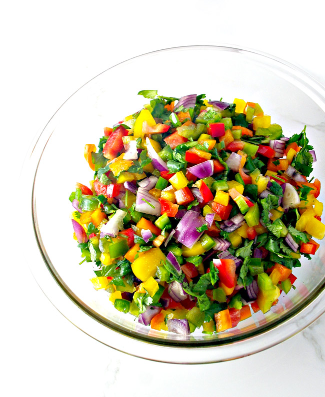 Hot 'n Spicy Pico de Gallo is deliciously vegan and paleo! | spiritedandthensome.com